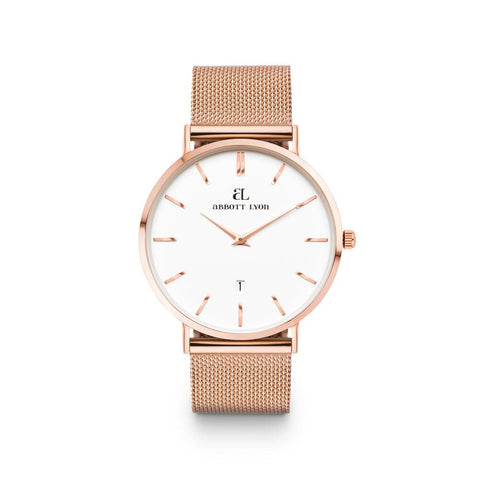 Rose Gold Kensington 40 Mesh (Rose/White)