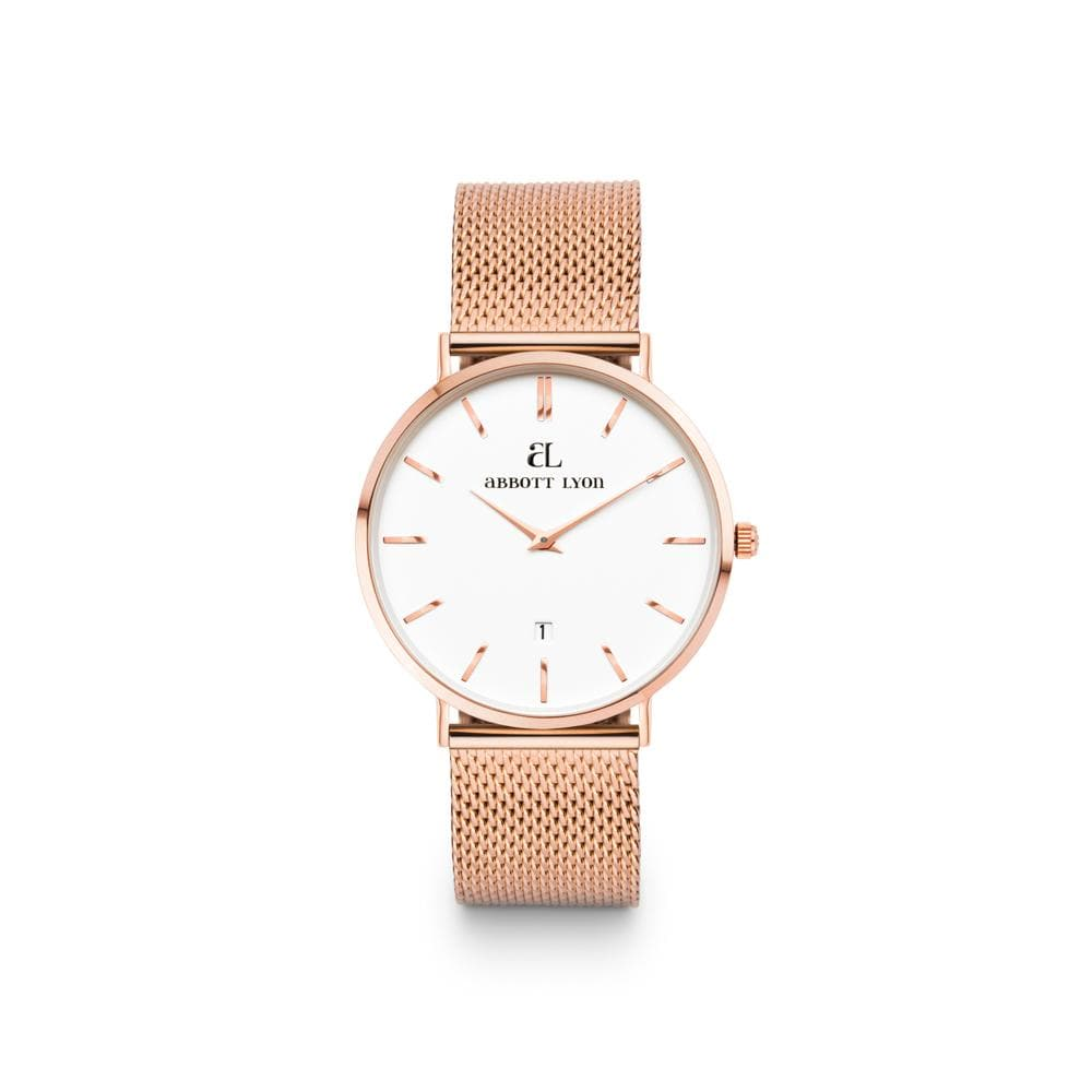 Rose Gold Kensington White 34 Mesh