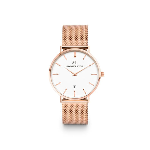 Rose Gold Kensington 34 Mesh (Rose/White)