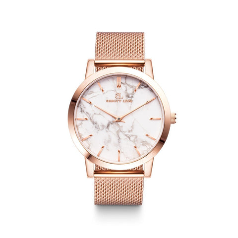 Rose Gold Marble Luxe 40 Mesh (Rose/White)