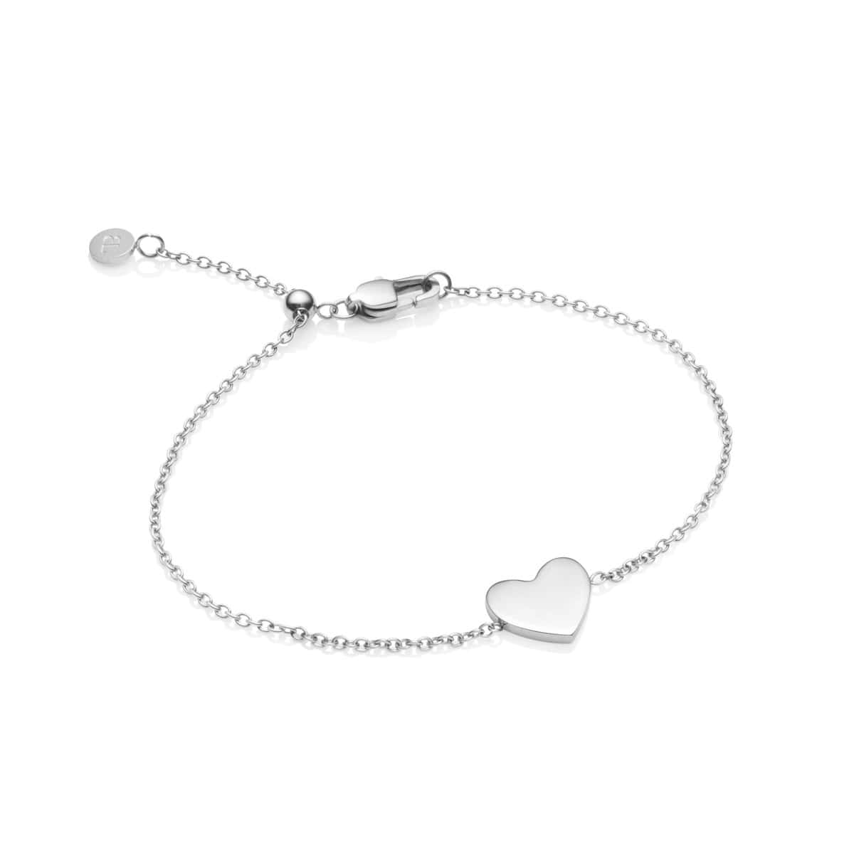 Little Luxe Heart Armband (Silver)