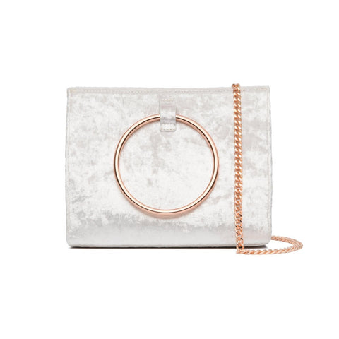 Moda Velvet Handtasche (Snow White/Rose Gold)