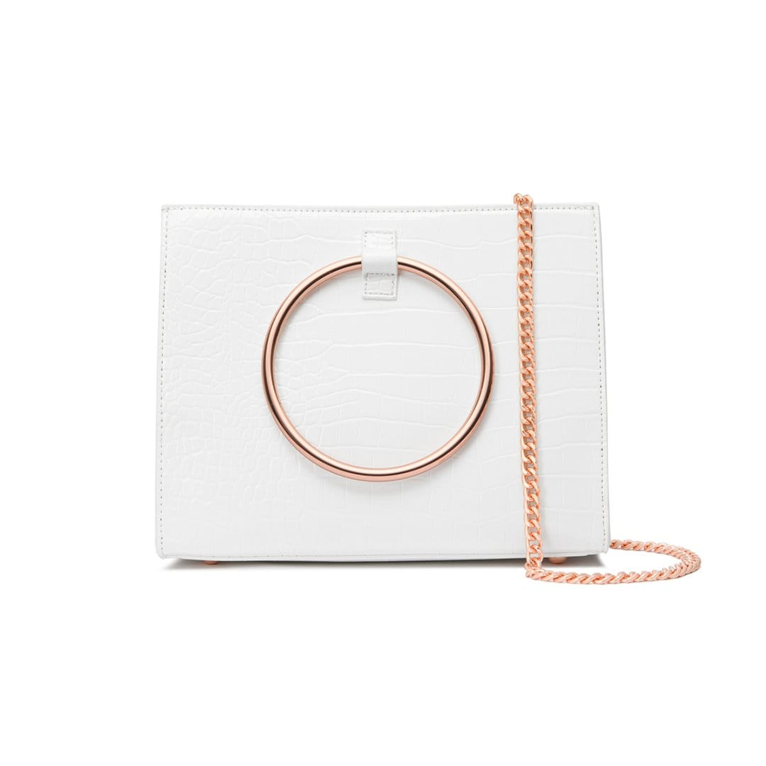 Moda Croc Handtasche (Shell White/Rose Gold)