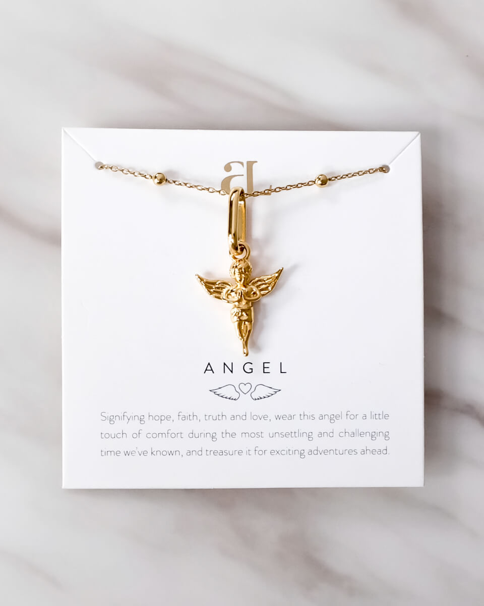 Angel Sphere Chain Necklace (Gold)