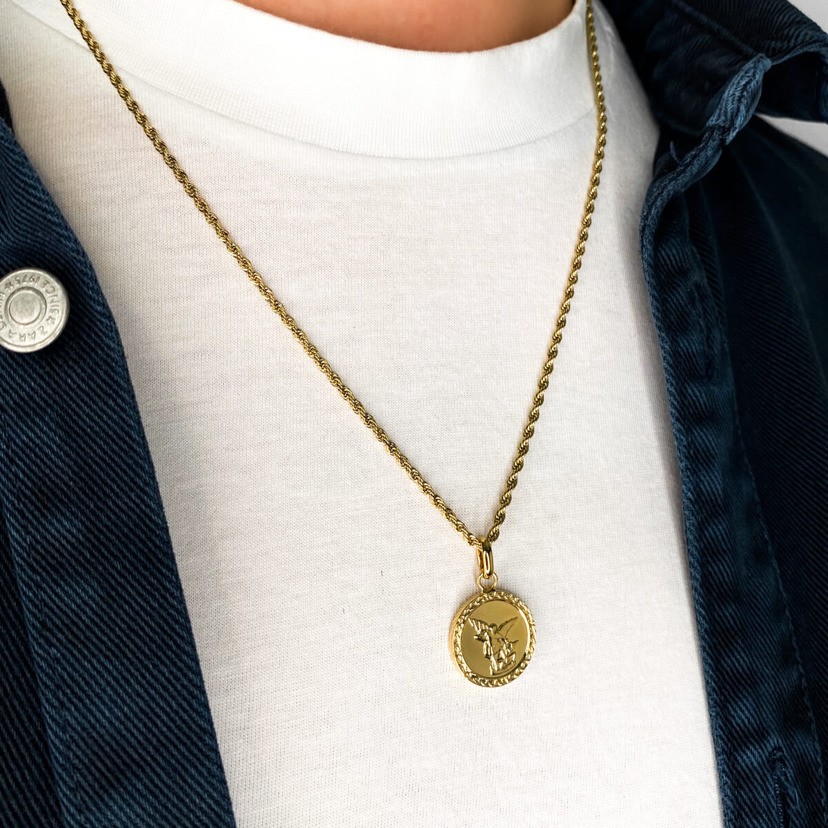 Rope Chain Necklace 20 in (Brass)
