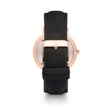 Rose Gold Kensington 40 Leder Schwarz (Rose/Black)