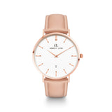 Rose Gold Kensington 40 Leder Hautfarben (Rose/White)