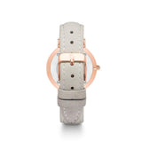 Rose Gold Kensington 34 Leder Grau (Rose/White)