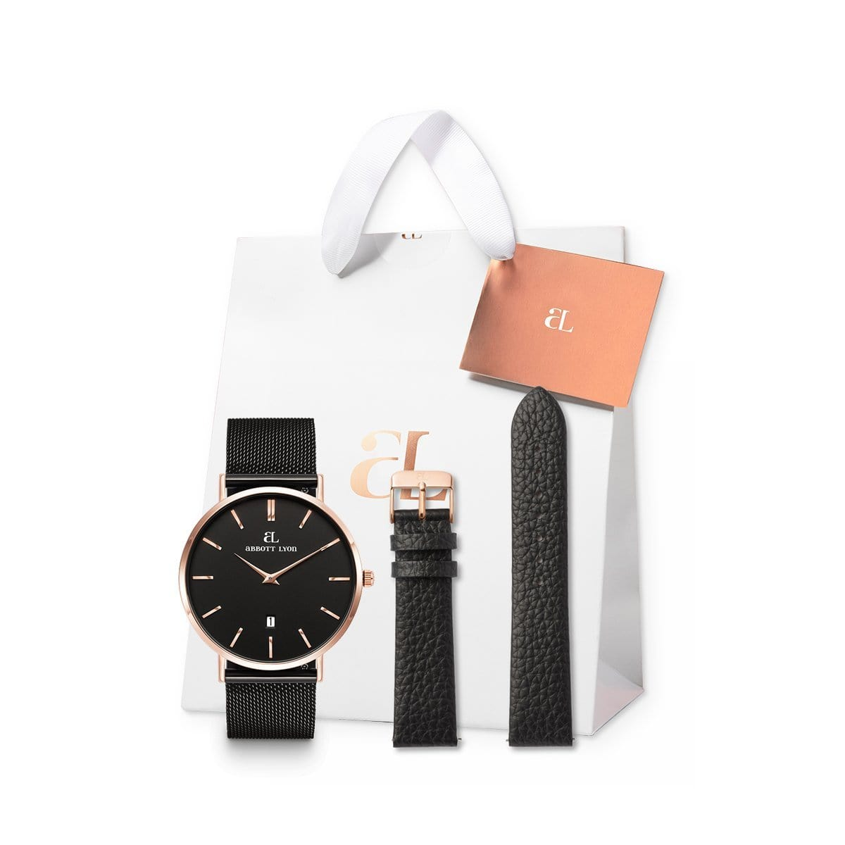 Black Kensington 40 Mesh Strap Set