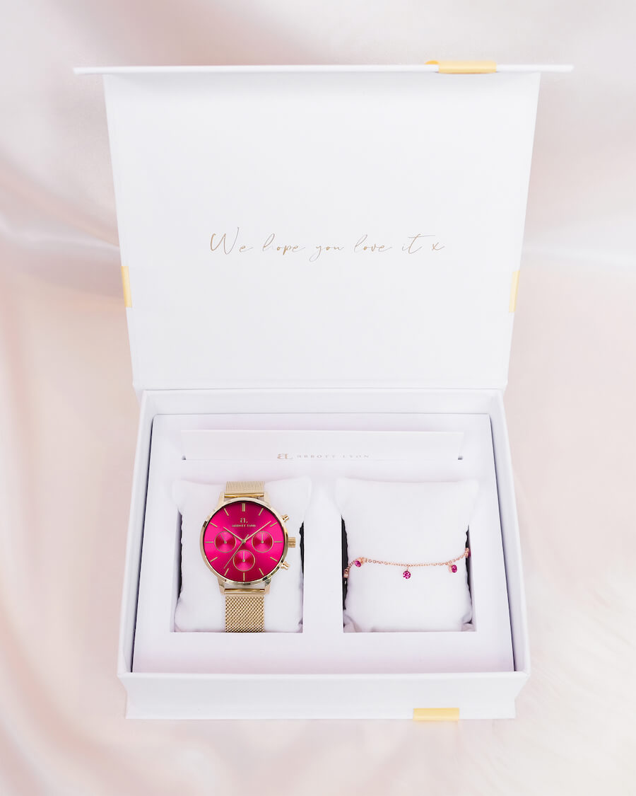 Fuchsia Nueva Gift Set (Rose Gold)