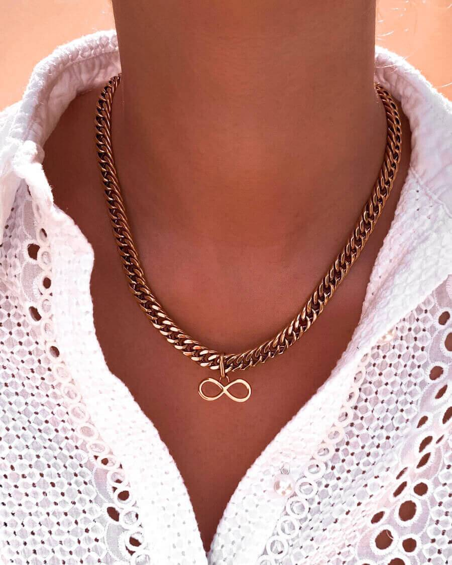 Infinity Pendant (Rose Gold)