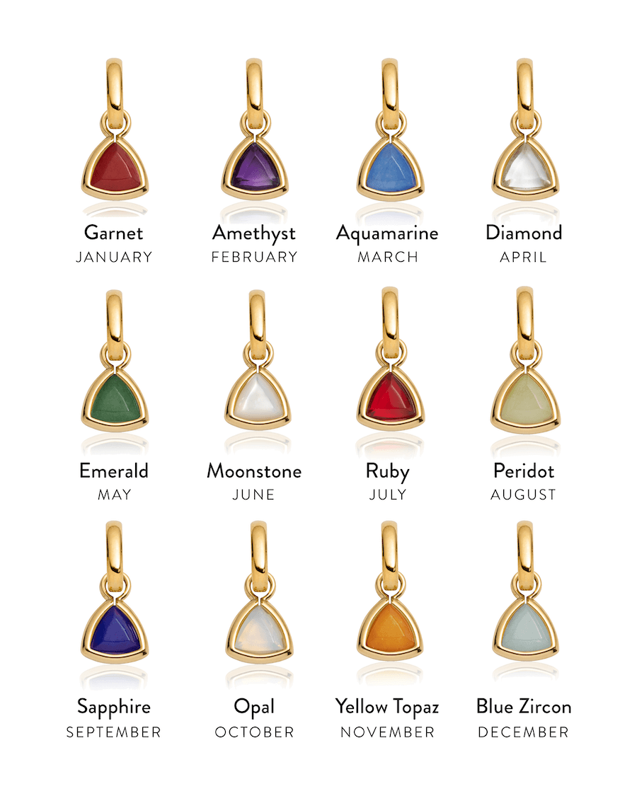 Selected Droplet Birthstone Pendant (Gold)