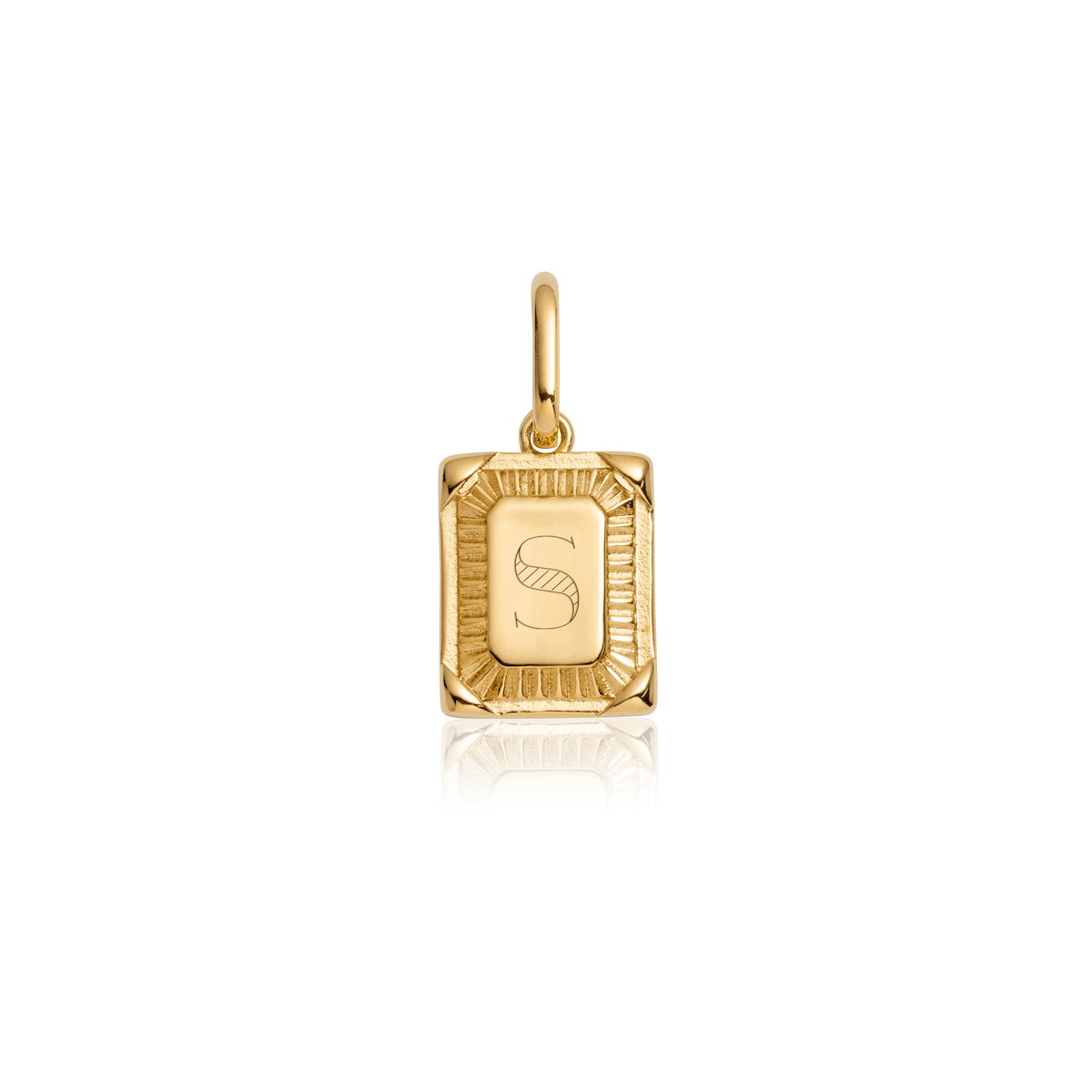 Selected Personalise Plate Pendant (Gold)-