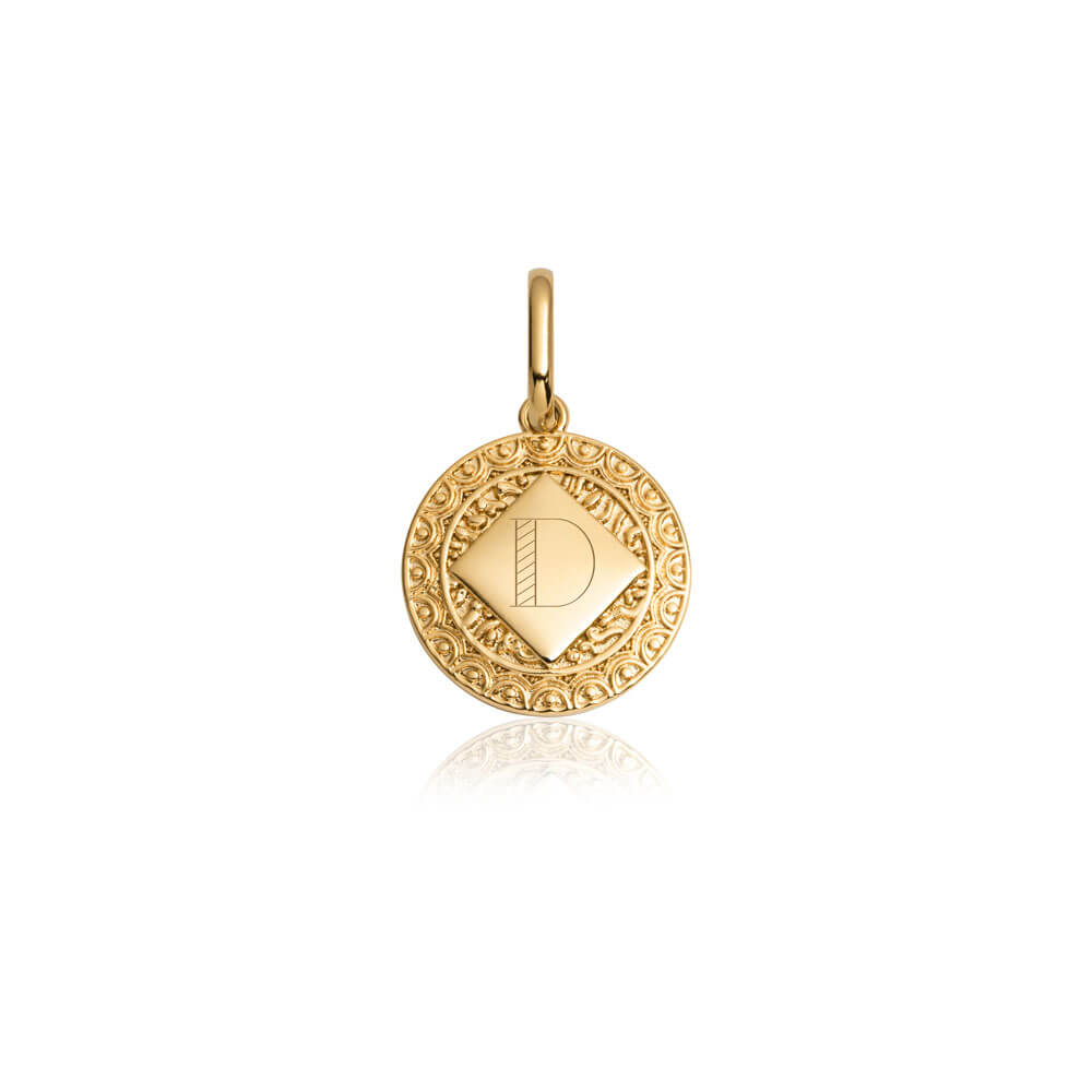 Selected Maya Coin Pendant (Gold)-
