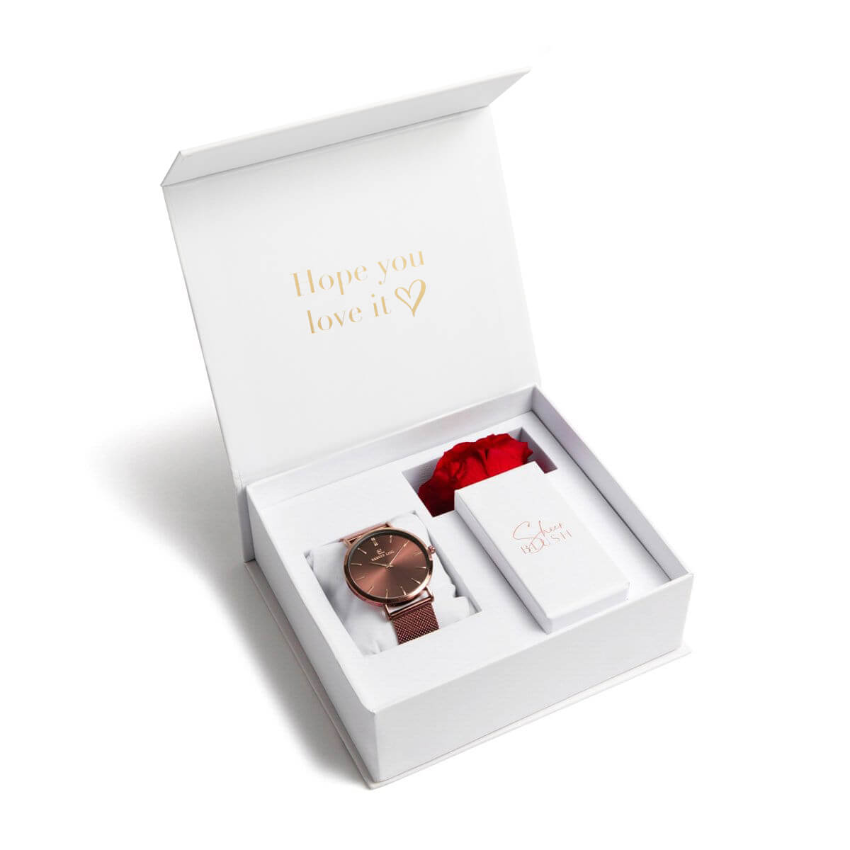 The Mocha Eternal Rose Gift Set (Ruby)