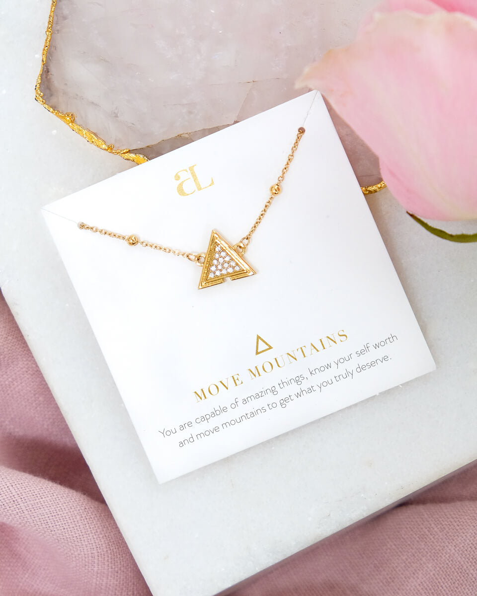 Move Mountains Necklace (Gold)