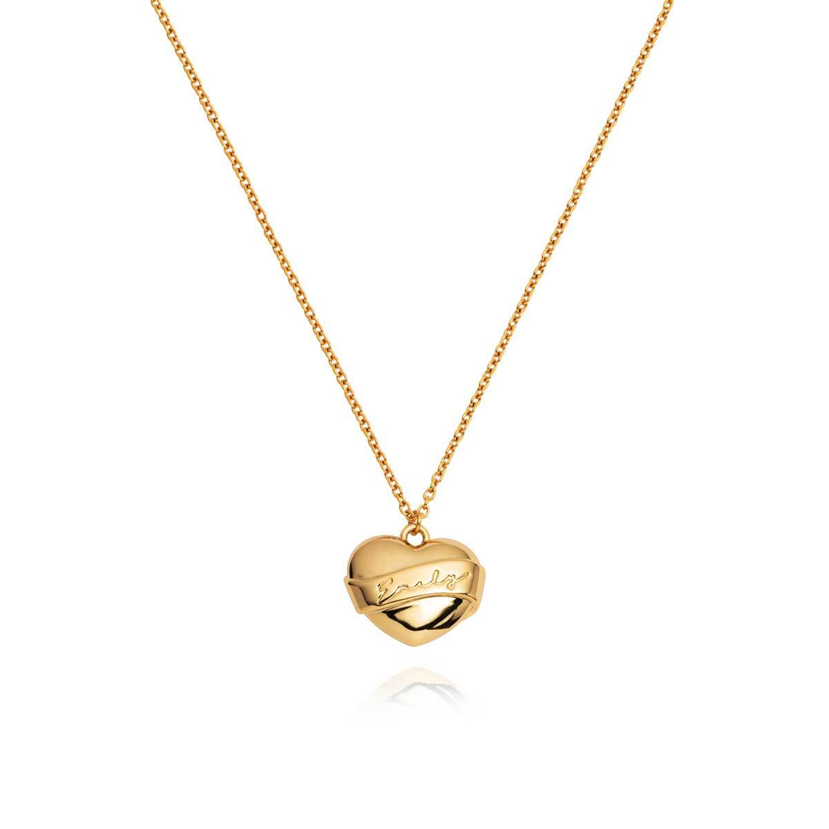 Name Heart Necklace (Gold)