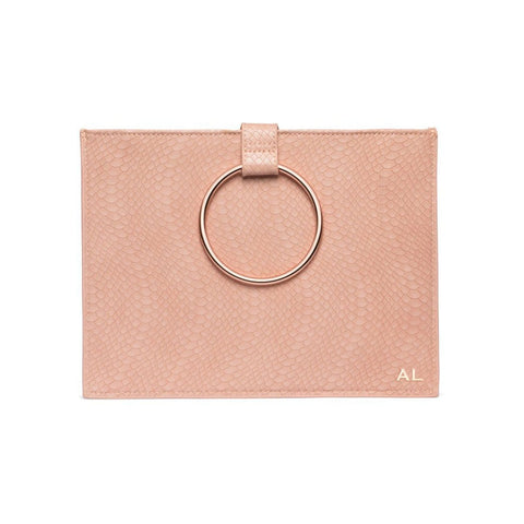 Maia Clutch (Carnation Pink/Rose Gold)
