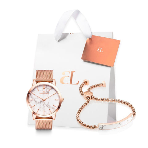 Rose Gold Marble Luxe 40 Mesh Personalise Geschenkset (Rose/Rose)
