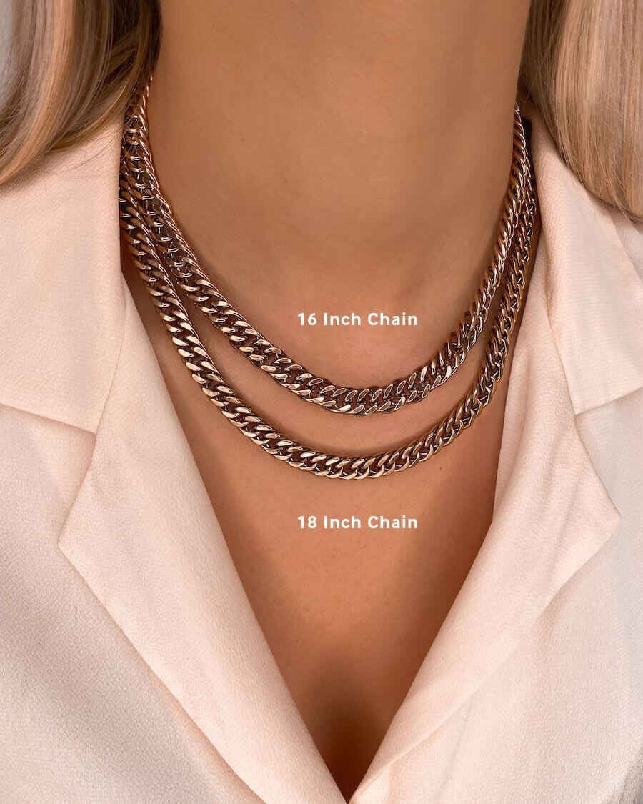 Foil Letter Curb Chain Necklace (Rose Gold)