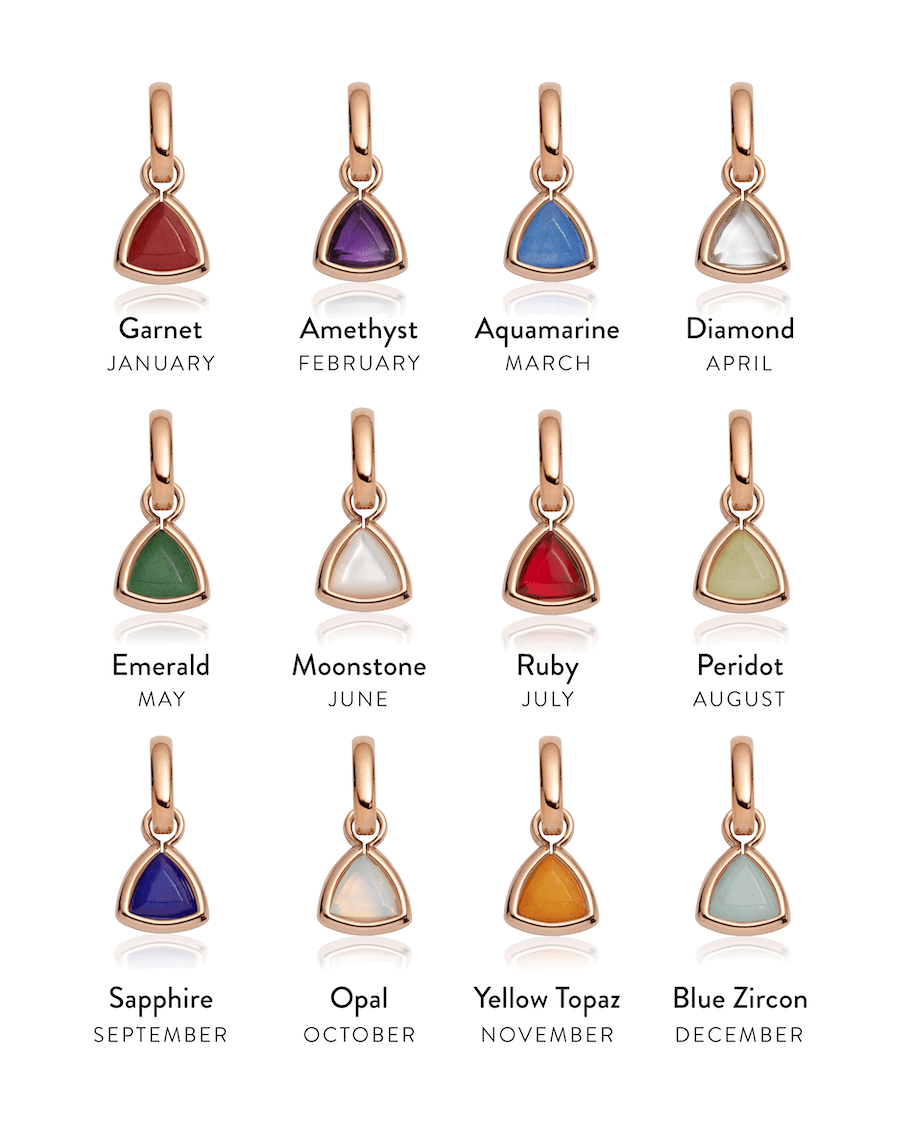 Selected Droplet Birthstone Pendant (Rose Gold)