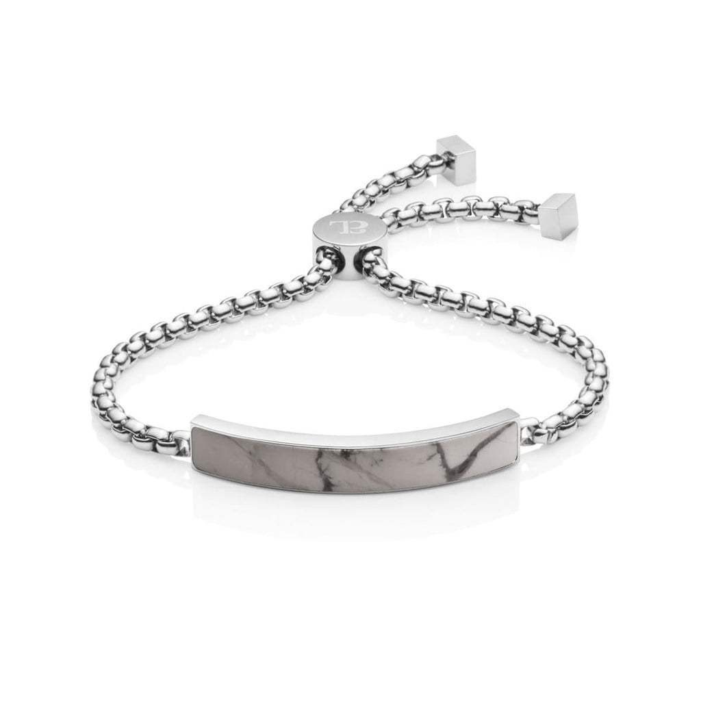 Marble Luxe Armband (Silver/Grey)