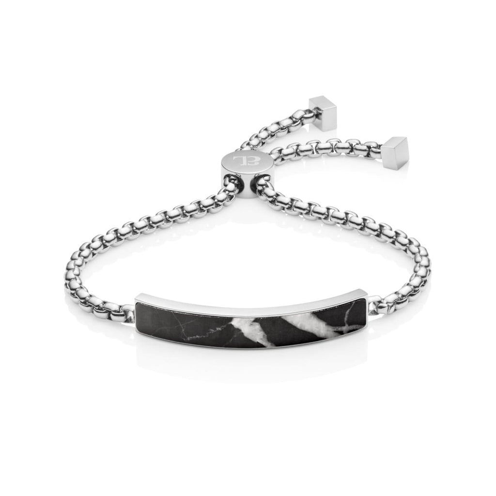 Marble Luxe Armband (Silver/Black)