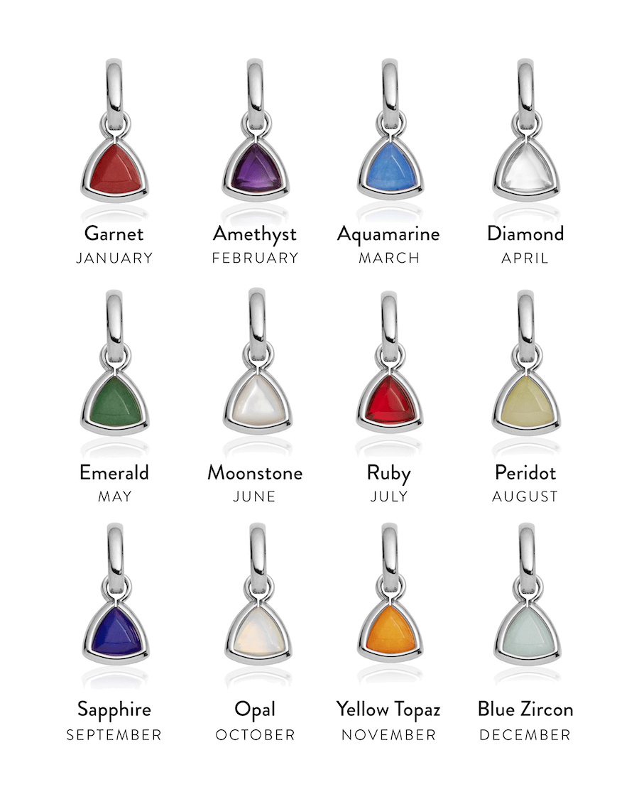 Selected Droplet Birthstone Pendant (Silver)