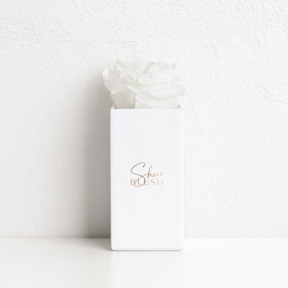 The Rose Gold Eternal Rose Gift Set (White)