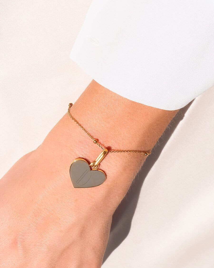Heart Sphere Chain Bracelet (Gold)
