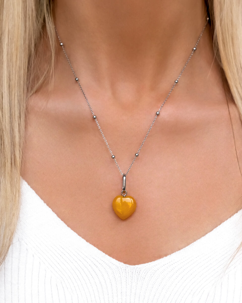Birthstone Sphere Chain Necklace (Silver)