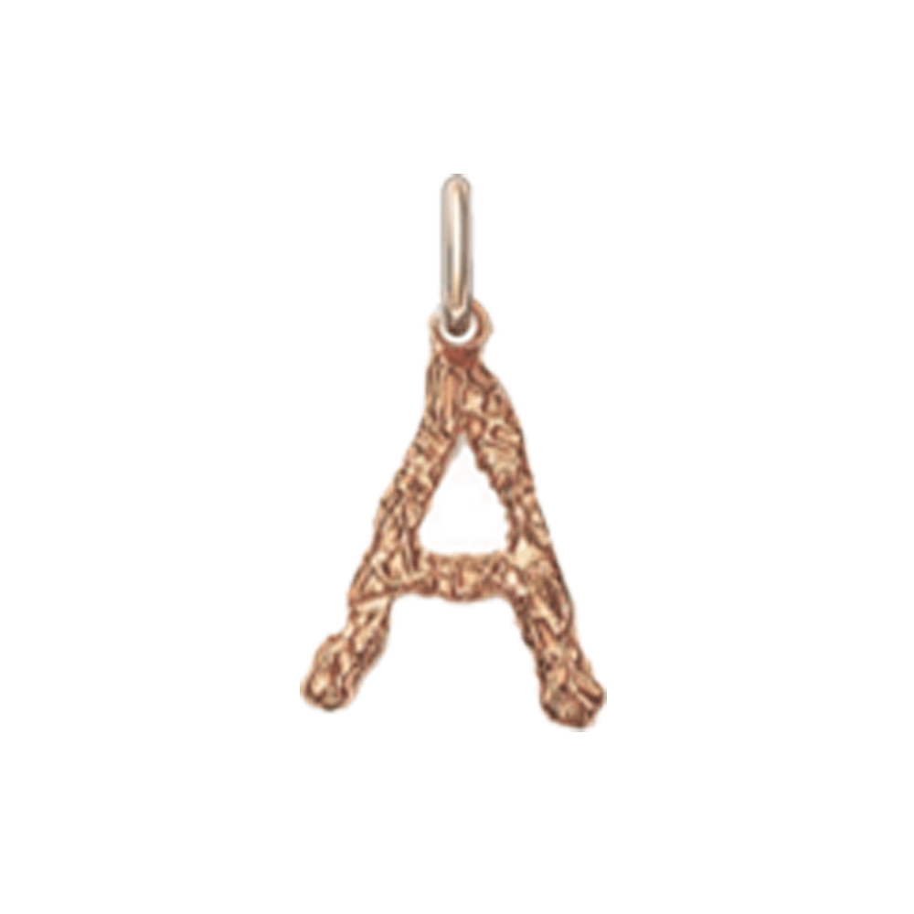 Selected Foil Letter Pendant (Rose Gold).