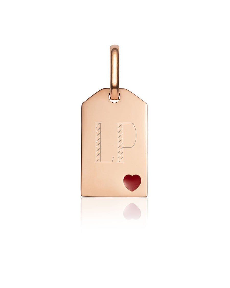 Heart Tag Pendant (Rose Gold)