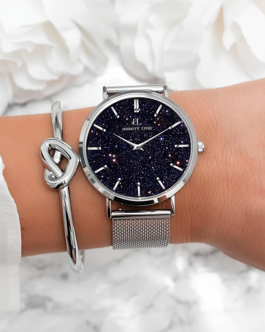 Silver Chain Midnight Blue Estrella 40