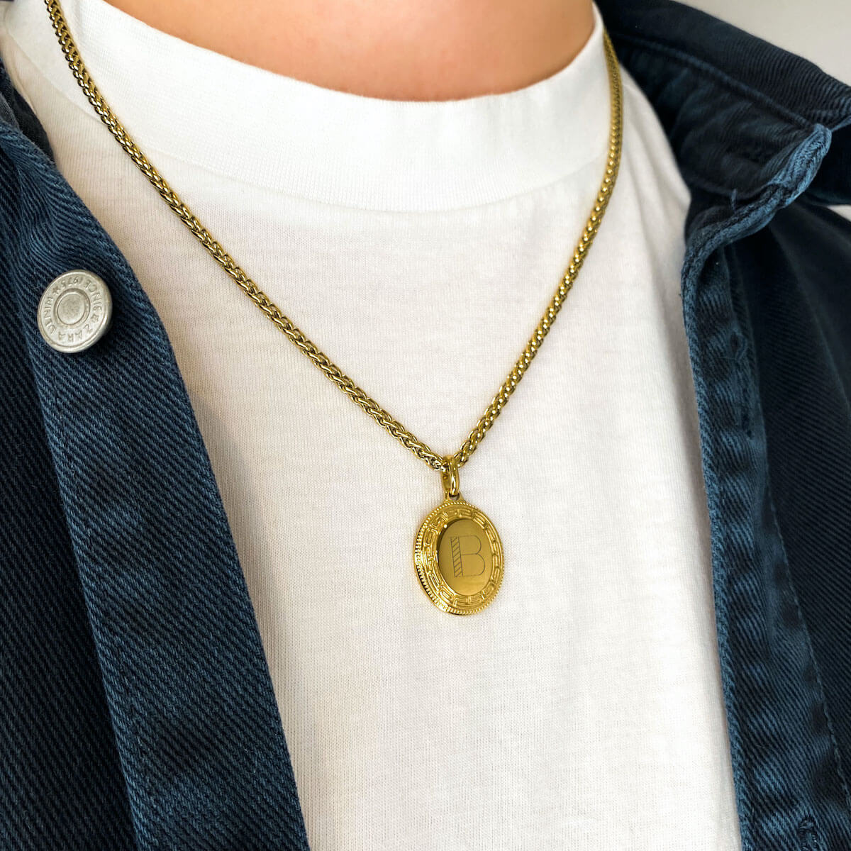 Wheat Chain Necklace 20 in (Brass)