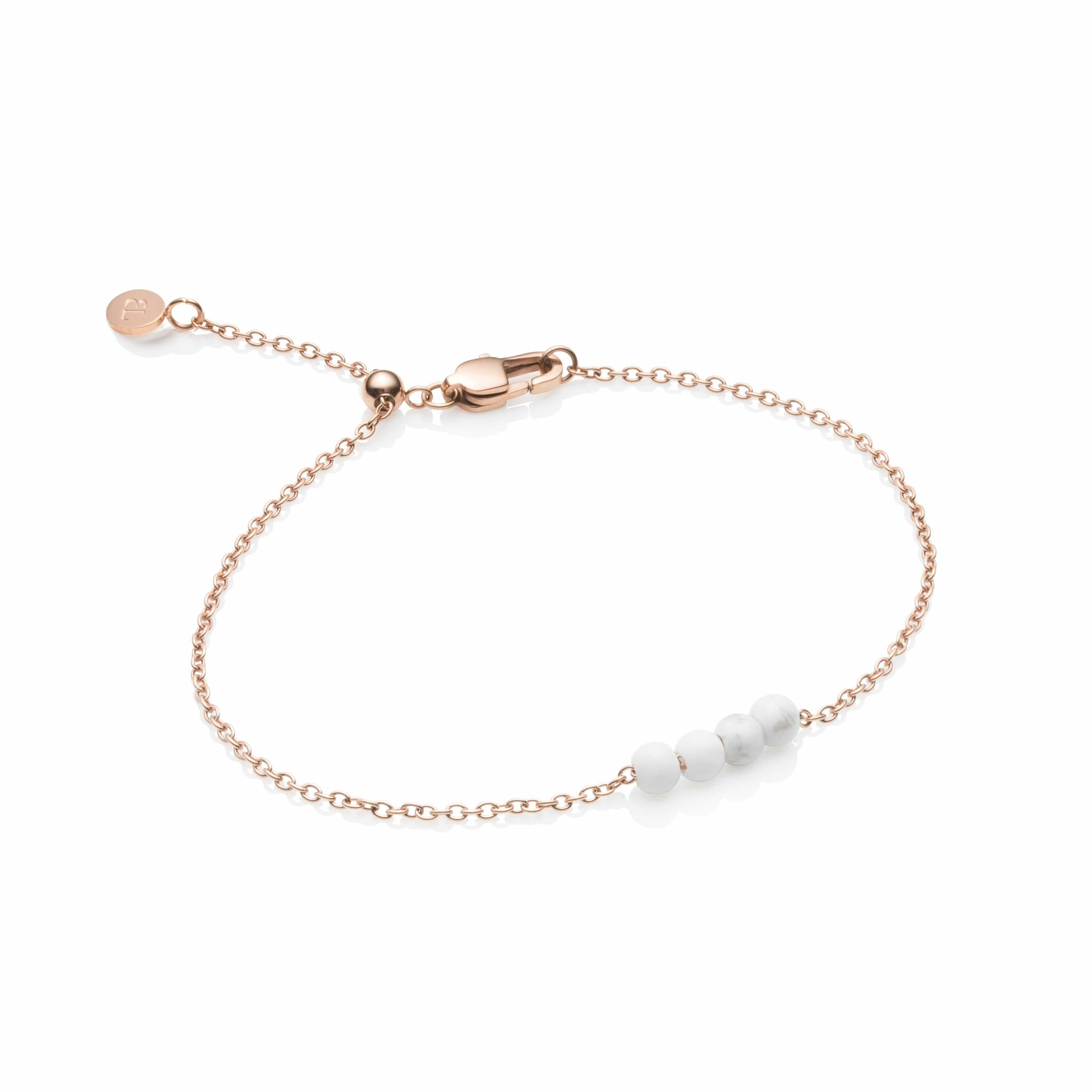 Little Luxe Marble Pendel Armband (Rose Gold)