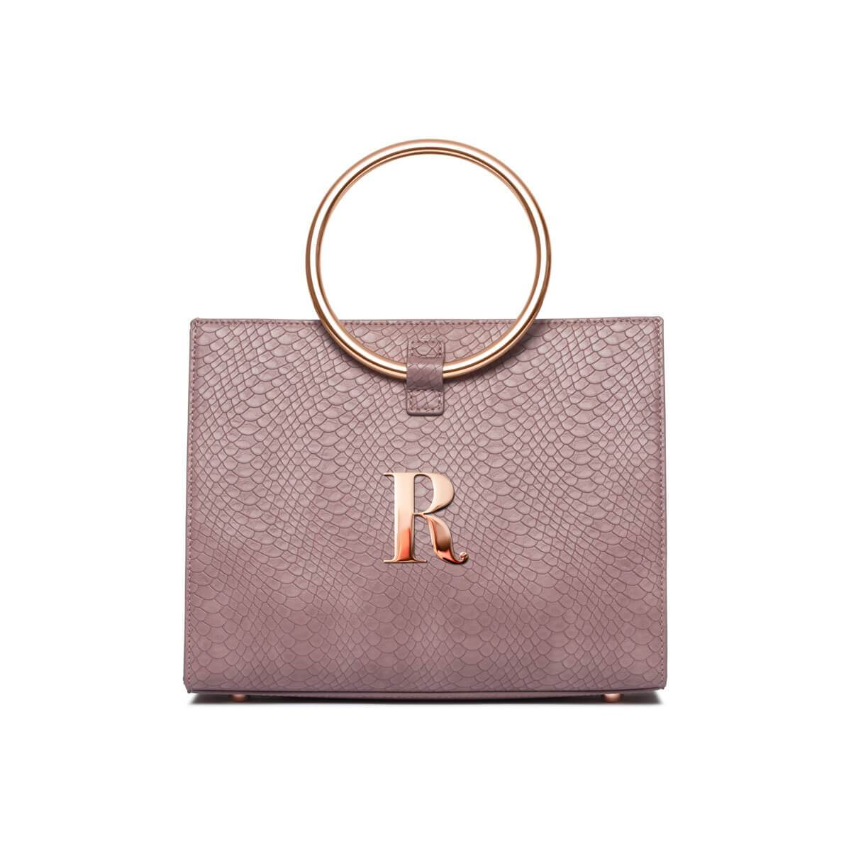 Mauve Moda Handbag Rose Gold