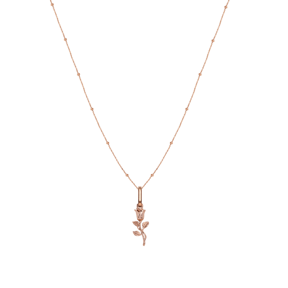 Rose Sphere Chain Necklace 20 in (Rose Gold)