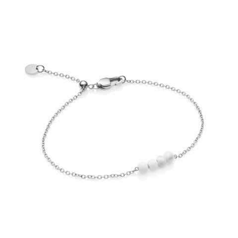 Little Luxe Marble Pendel Armband (Silver)