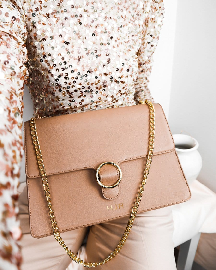 Desert Taupe Mara Handbag Yellow Gold
