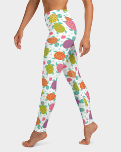Cute Sea Turtles Yoga Leggings