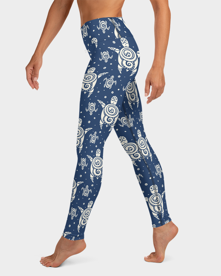 Sea Turtles Tattoo Yoga Leggings