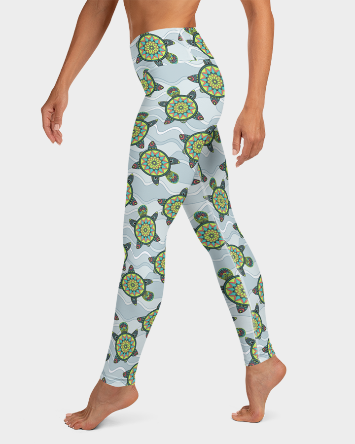 Green Sea Turtles Yoga Leggings