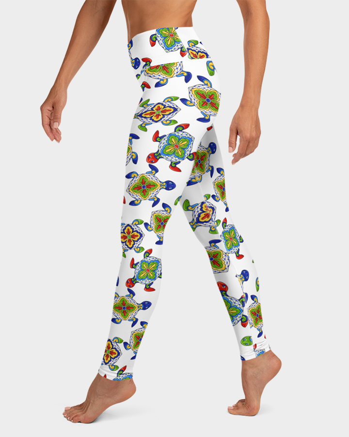 Mexican Sea Turtles Yoga Leggings
