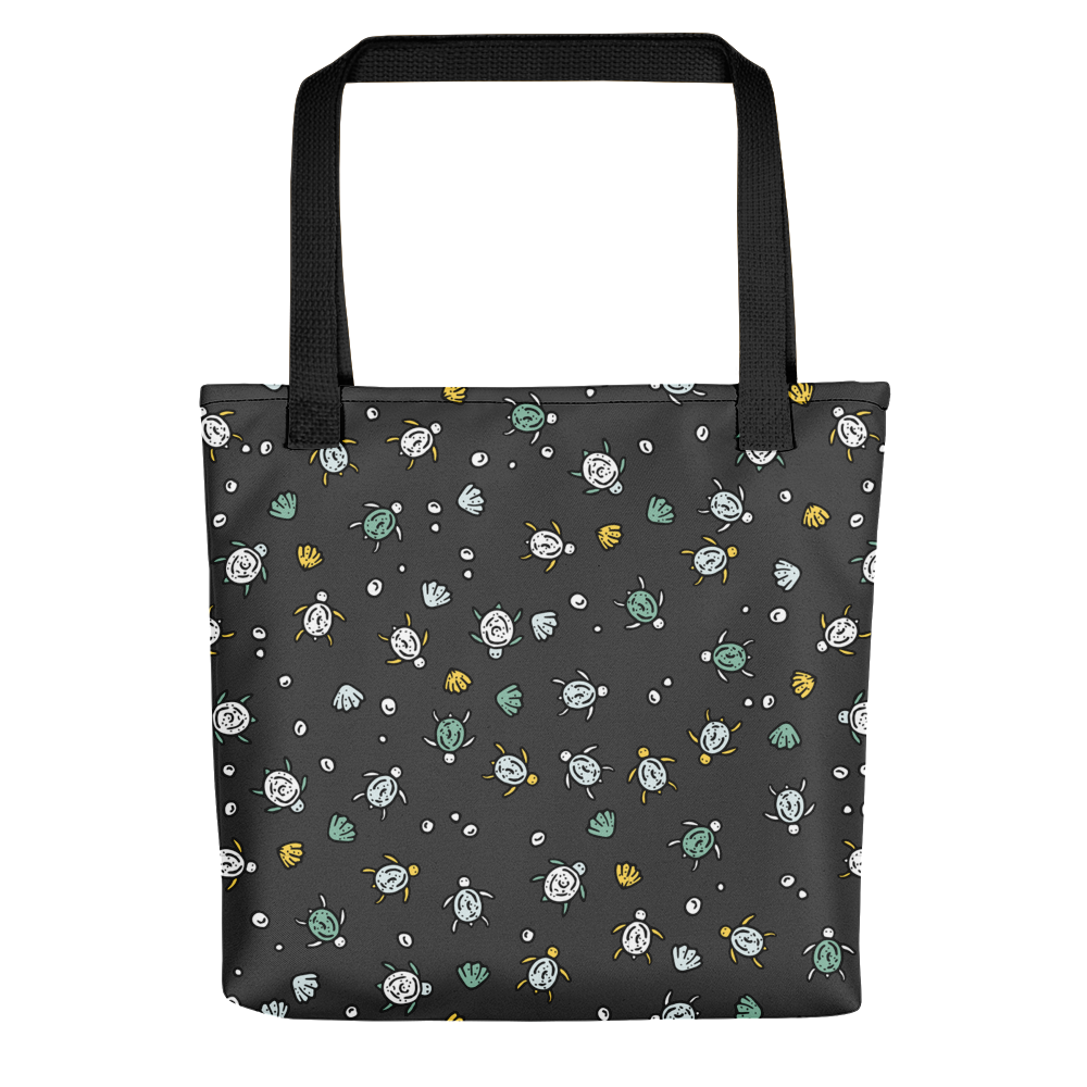 Hand-drawn Sea Turtles - Charcoal Tote Bag