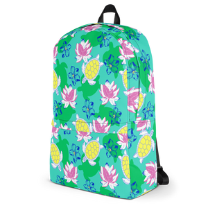 Sea Turtles and Flowers Backpack