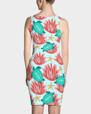 Sea Turtle and Coral Dress