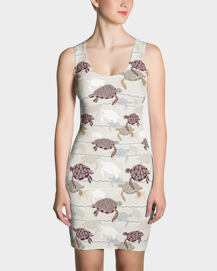Abstract Sea Turtles Dress