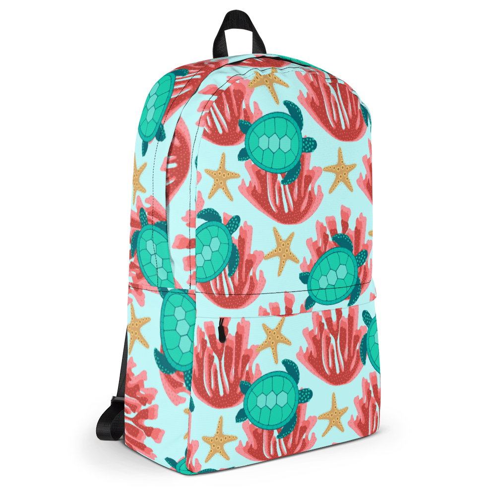 Sea Turtle and Coral Backpack