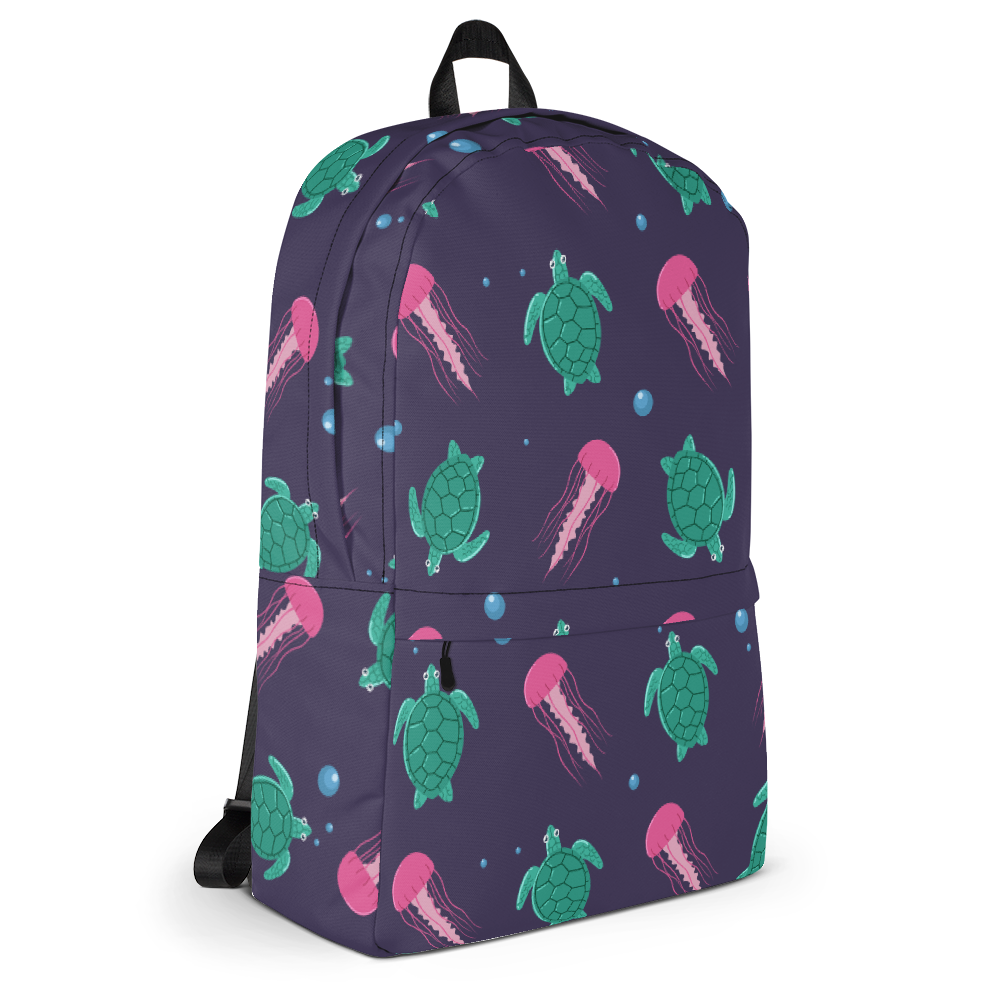 Sea Turtles and Jellyfish Backpack
